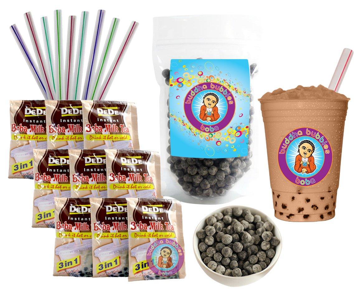 DeDe Instant Boba Tea It is very popular Kit 9 Packets Drink St Milk Superior Latte Fat