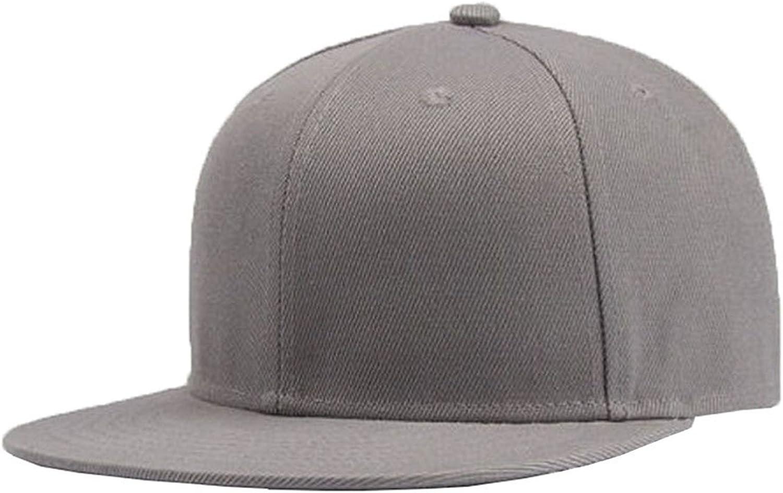 Moore Plain Solid Flatbill Snapback Hats Baseball Cap