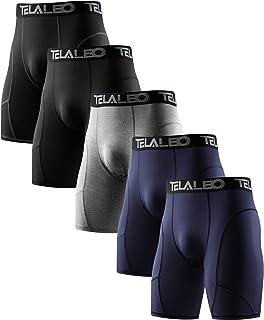 شورت فشرده TELALEO 5 Pack برای مردان Spandex Short Sports Sports Athletic Working Performing Performance Baselayer Underwear