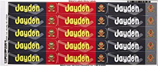 Mabel's Labels 40845058 Peel and Stick Personalized Labels with the Name Jayden and Hockey Icon, 45-Count