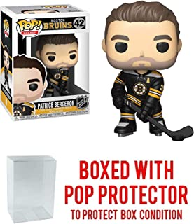 POP! Sports NHL Patrice Bergeron Boston Bruins #42 Action Figure (Bundled with Pop Box Protector to Protect Display Box)