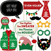 product image for Big Dot of Happiness Ugly Sweater - Holiday and Christmas Party Photo Booth Props Kit - 20 Count