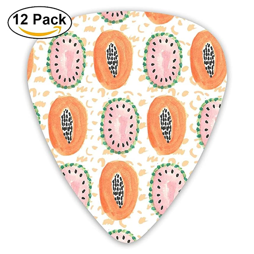 12-pack Fashion Classic Electric Guitar Picks Plectrums Fruits Food Instrument Standard Bass Guitarist