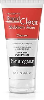 Neutrogena Rapid Clear Stubborn Acne Facial Cleanser with Benzoyl Peroxide Acne Medicine, 5 fl. Oz