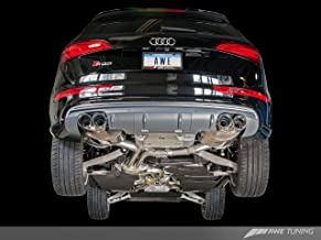 AWE Tuning 3015-43056 SQ5 Touring Edition Exhaust (Quad Outlet, Diamond Black Tips)