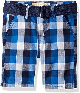 Lee Toddler Boys' Belted Plaid Woven Short