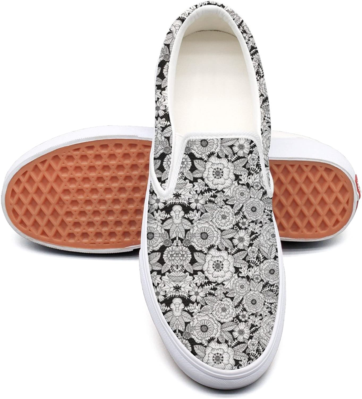 Lalige Floral Velvet Womens Fashion Canvas Slip-on Walking shoes
