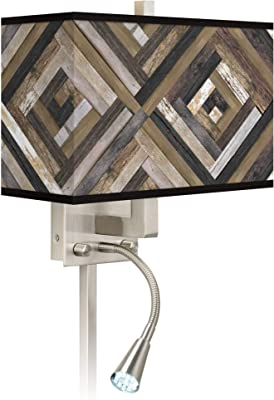 Amazon.com: Luz LED de lectura con diseño de rayas verdes de ...