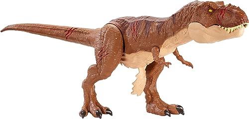Jurassic World World Tyrannosaurus Rex XL Qui rugit, blessures de Combat, fvp48Vignette, MultiCouleure