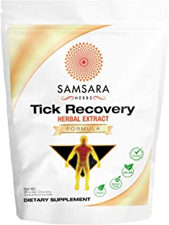 Samsara Herbs Tick Recovery Herbal Powder Formula (2oz/57g) - Japanese Knotweed, Cat's Claw, SIDA Acuda, Ho...