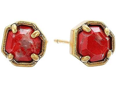Kendra Scott Nola Stud Earrings (Vintage Gold Burnt Sienna) Earring