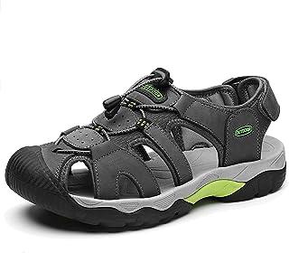 DimaiGlobal Sandalias Deportivas para Hombre Al Aire Libre Cuero Verano Playa Senderismo Zapatos Antideslizante Trekking C...