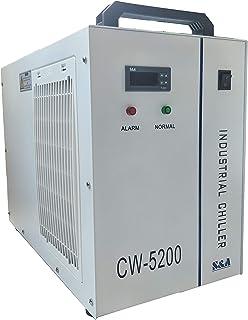 S&A Genuino CW-5200AH (5200AG actualizado) Enfriador de agua industrial Agua de enfriamiento de capacidad 6L para máquina de corte por grabado láser de CO2 80W-150W