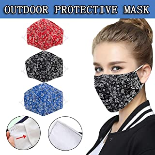 BeAcient Dust Mask, Anti-dust Mouth Mask, Unisex Cotton Face Mask Muffle Shield Spot Mask for Cycling Travel Outdoors for Adult Men Women (C)
