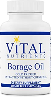 Vital Nutrients - Borage Oil - Cold Pressed Extracted Without Chemicals - High Dose of GLA, Essential Omega 6 Fatty Acid -...
