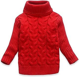 Baby Kids Boys Girls Long Sleeves high Collar Twist Knit Sweater Keep Warm