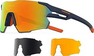 نظارة شمسية رياضية للرجال، مستقطبة للنساء، نظارة شمسية رياضية لركوب الدراجات والمشي لمسافات طويلة والصيد والجولف والجري TR71