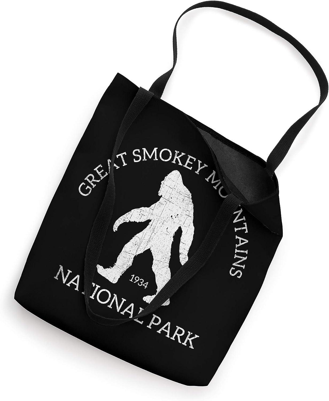 Great Smoky Mountains National Park Funny Sasquatch Logo Tote Bag