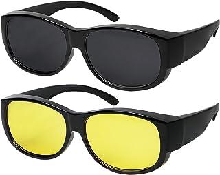 c2cec42e934 Fit Over Sunglasses With Polarized Lens 100% UV Protection Wear Over  Prescription Eyeglasses