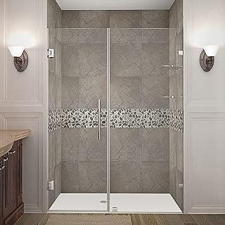 Aston Nautis GS Completely Frameless Hinged Shower Door with Glass Shelves, 54