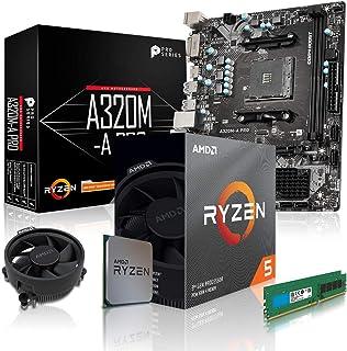 dcl24.de PC Aufrüstkit [11758] AMD 5 3600 6x3.6 GHz   16GB DDR4, A320 Mainboard Bundle Kit, ohne onBoard Grafik, eigenständige Grafikkarte notwendig