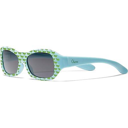Chicco - Gafas de Sol Infantiles Para Bebés y Niños De 12 meses 1 año, Con Montura flexible y Lentes Anti Arañazos, Color Azul