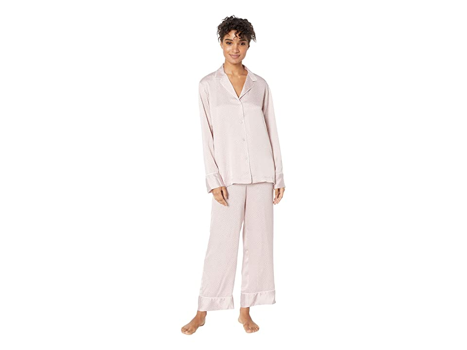 Natori Labyrinth Satin PJ Set (Rose Beige) Women