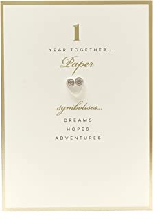 1st Anniversary New Greetings Card - Paper 1 Year Together