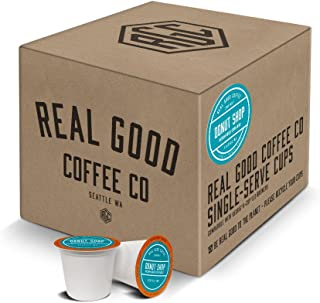 Real Good Coffee Co Donut Shop Medium Roast Coffee K Cups, 36 Count, Recyclable Single Serve Coffee Pods for Keurig K Cup Brewers
