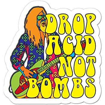 Drop acid not bombs Vinyl Vinyl Decal Wall Laptop Bumper Sticker 5