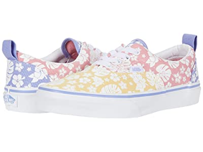 Vans Kids Era Elastic Lace (Big Kid) ((Hawaiian Floral) Multi/True White) Girls Shoes
