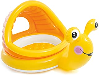 Intex - Lazy Snail Shade Baby Pool, Yellow