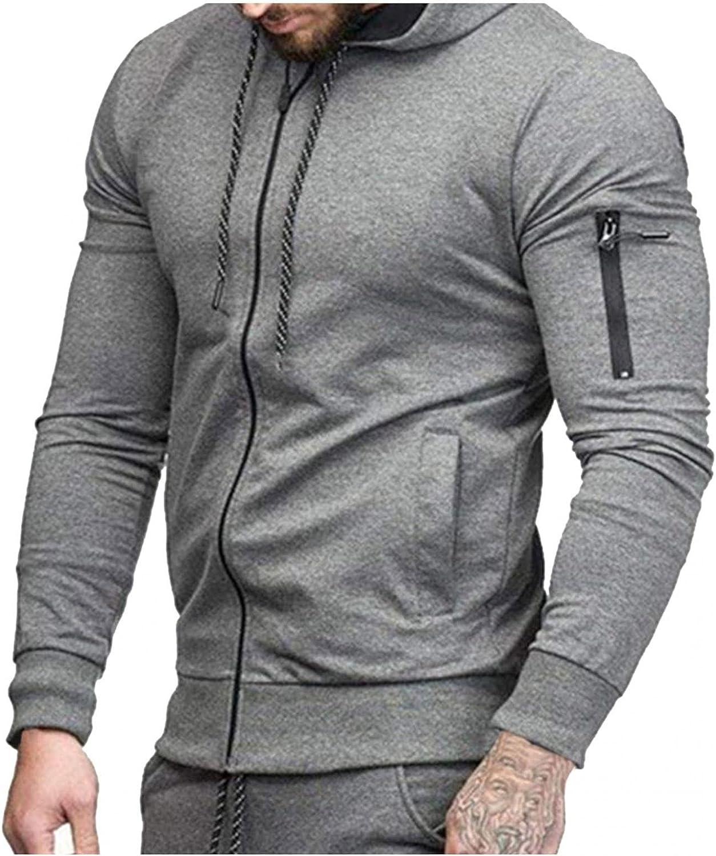 Aayomet Men's Pullover Hoodies Cardigan Zipper Long Sleeve Hooded Sweatshirts Casual Workout Sport Blouses Tops Sweaters
