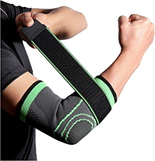 Breathable Bandage Compression Sleeve Elbow Brace Support Protector for Weightlifting Arthritis Volleyball Tennis Arm Brac...