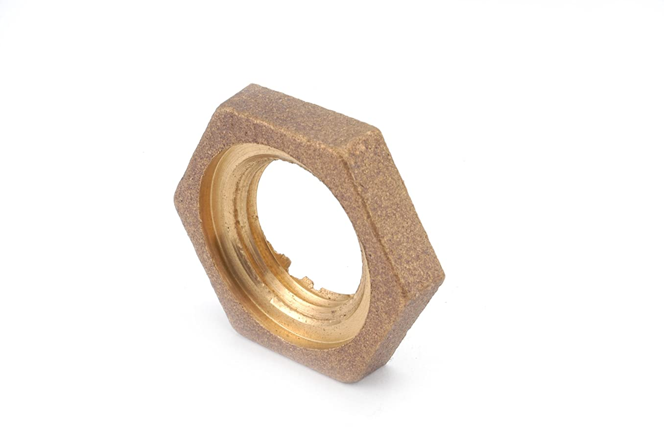 Anderson Metals 38111 Red Brass Pipe Fitting, Locknut, 1