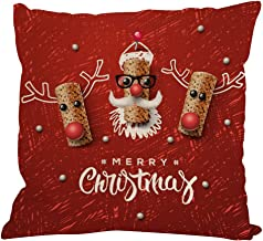 Nstcher New Christmas Cotton Linen Pillow Case Sofa Cushion Cover Home Decor F