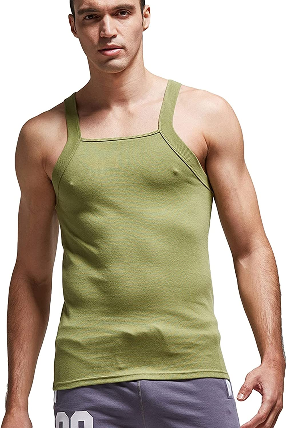 Womens Summer Tops Men's Fitness Tight Solid Color Threaded Sling Sports Vest Single Piece Tops Juniors Girls