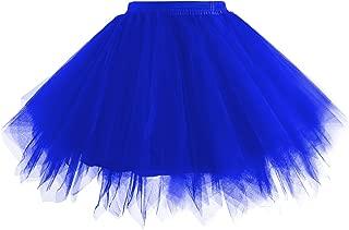 Hanpceirs Women 1950s Short Vintage Tulle Petticoat Skirt Ballet Bubble Tutu