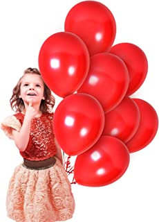 Metallic Red Latex Balloons 12 Inch 36 Pack Bridal Shower Decor for Valentines Day Decorations Bulk Balloons Engagement Happy Birthday Parties Baby Shower Bachelorette Wedding Anniversary Supplies