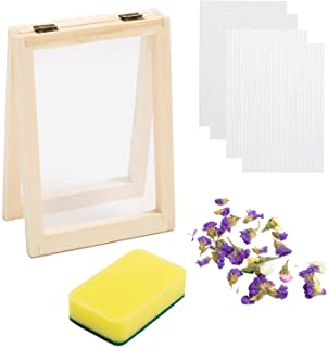 Eage Paper Making Screen Frame, 5 x 7 Inch Wooden Papermaking Mould Kit for DIY Paper Craft and Dried Flower Handcraft