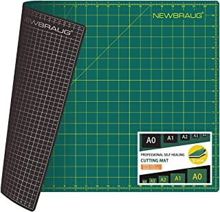 NEWBRAUG 18'' × 24'' Perfect Self Healing Cutting Mat, Non-Slip Gridded Rotary Cutting Board, Necessary for Quilting, Sewi...