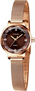 CIVO Women's Watches Ladies Waterproof Watch Stainless Steel Mesh Analog Quartz Wrist Wacthes for Woman Fashion Simple Minimalist Dress Elegant Ultra Thin Design