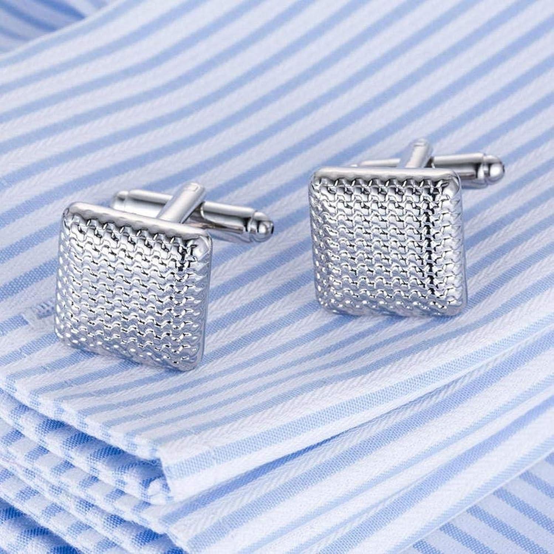 JaHGDU Unisex Cufflinks Quality Laser Cufflinks Men French Excellent Cuff Cufflings Silver Cuffs Multipurpose Quality