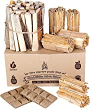 Fire Starters Box: kindling Wood Sticks + fire Starter logs (Similar fatwood) + Fat Wood Squares for Camping - Wood Stove|...