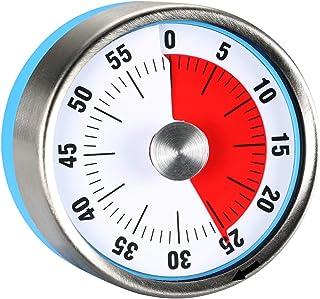 "Round 2.3"" Visual Analog Countdown Timer Kids Mini 60 Minute Clock Mechanical Magnetic for Kid Kitchen Homeworks Housework..."
