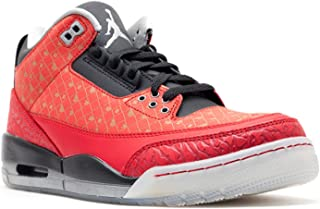 Nike Men's Air Jordan III 3 Retro DB Doernbecher Varsity Red/Metallic Silver-Black 437536-600 Shoe