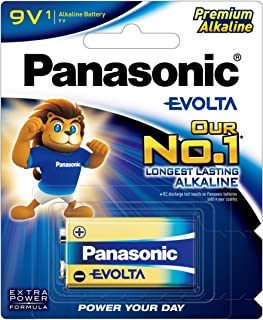 Panasonic EVOLTA Alkaline Battery, 9V, 1-pack
