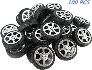 BaiJia Plastic Roll 2mm Dia Shaft Car Truck Model Toys Wheel 30x 9mm (100 PCS)