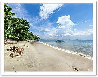 Crisco 1492 Karang Bolong Strand Tropisk Indonesien Foto Konst Tryck Inramad Affisch Väggdekor 30 x 40 cm