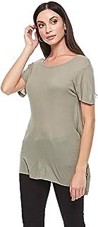 BRAVE SOUL Blouses For Women, Grayish Green S